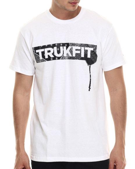 Ur-ID 218090 TRUKFIT - Men White Banadana Print Logo S/S Tee