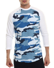 Basic Essentials - Camo 3/4 - Sleeve Raglan Tee