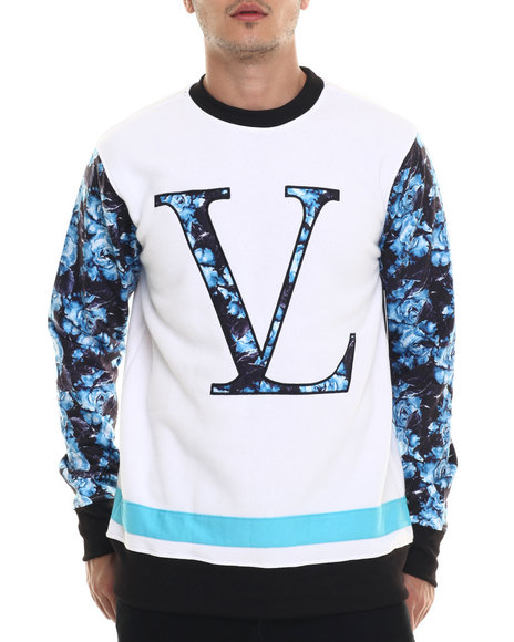 Ur-ID 218109 Vampire Life - Men White Crew Fleece Sweatshirt