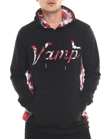 Ur-ID 218113 Vampire Life - Men Black Hooded Pull-Over
