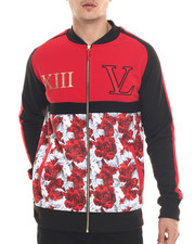Outerwear - Floral Fleece Jacket