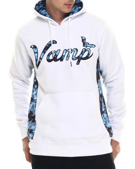 Vampire Life - Men White Hooded Pull-Over