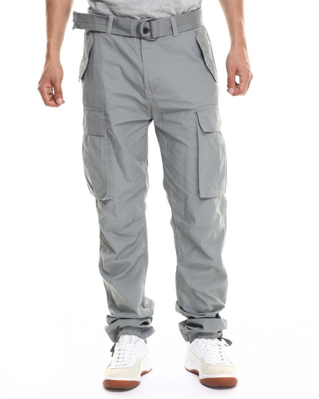 Mens Belted Cargo Pants