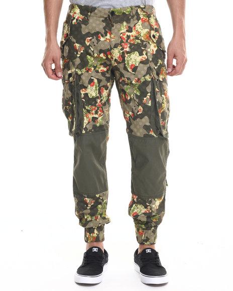 Rocawear Blak - Men Camo Paratrooper Cargo Pants