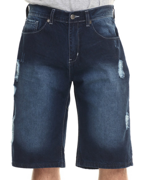 Akademiks - Men Dark Wash Jeffry Denim Shorts - $14.99