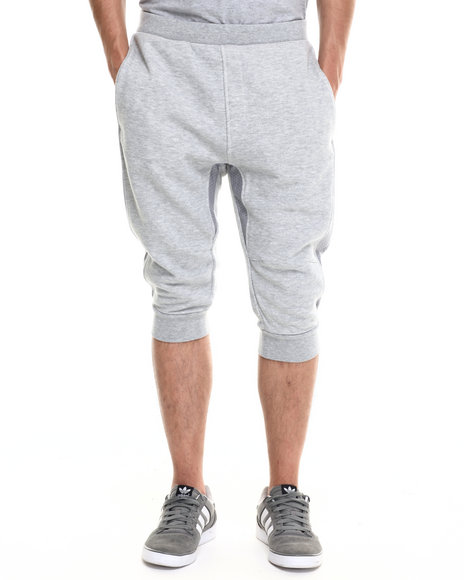 Rocawear Blak - Men Grey Pieced French Terry Joggers