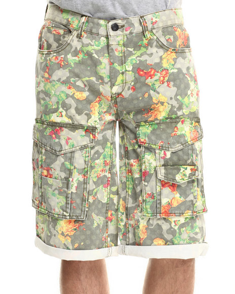 Rocawear Blak - Men Camo Blakprint Cargo Shorts