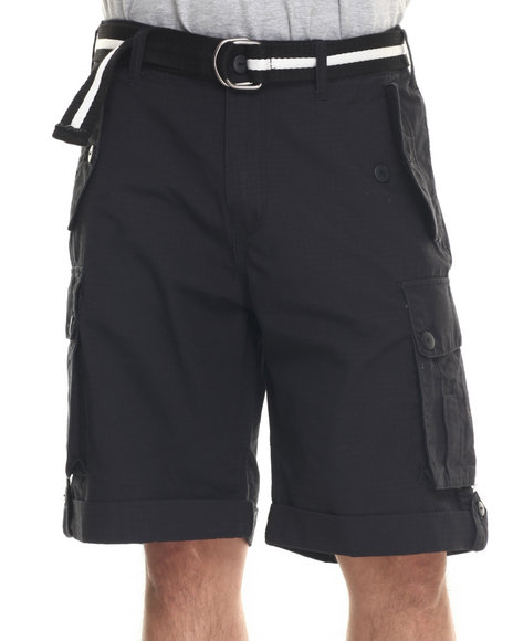 Rocawear - Men Black Blueprint 2 Cargo Shorts