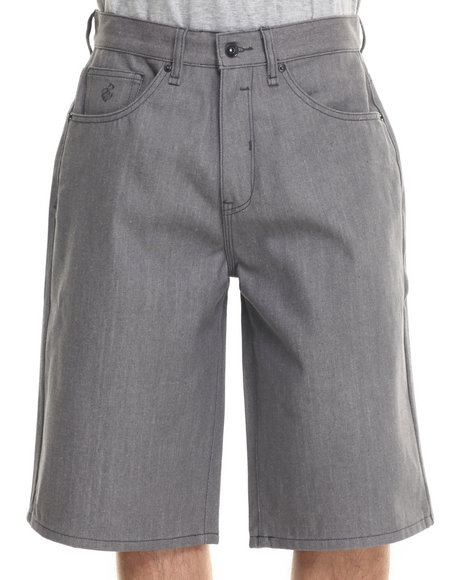 Rocawear - Men Grey Bsr Core Denim Shorts