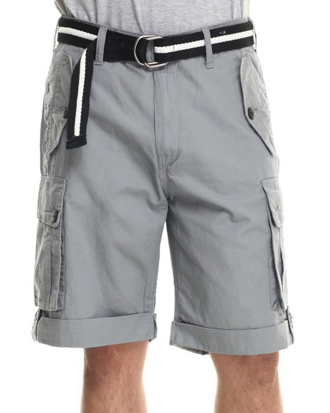 Grey Cargo Shorts Men