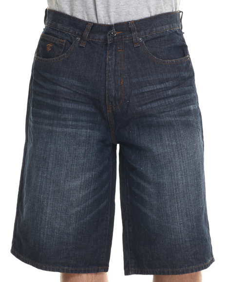 Rocawear - Men Dark Wash Bsr Core Denim Shorts
