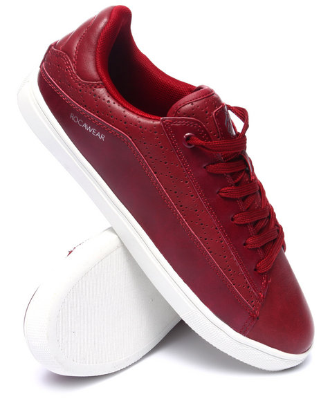 Ur-ID 218151 Rocawear - Men Red Perforated Lowtop Sneaker
