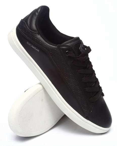 Ur-ID 218157 Rocawear - Men Black Perforated Lowtop Sneaker