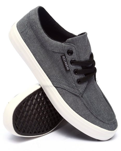 Rocawear - Men Charcoal Chambray Laced Sneaker