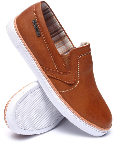 Rocawear - Men Tan Stitched Slip-On Sneakers