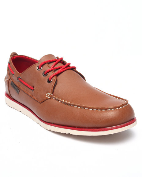 Rocawear - Men Tan Laced Boat Shoe