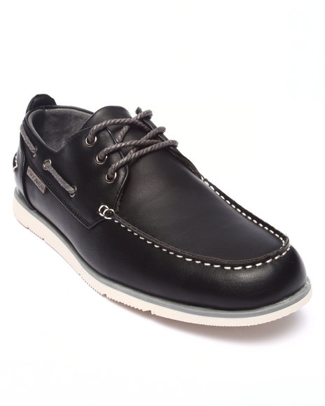 Rocawear - Men Black Laced Boat Shoe - $33.99