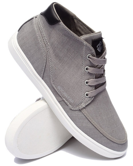 Rocawear - Men Grey Rocawear Hightop Chambray Sneaker