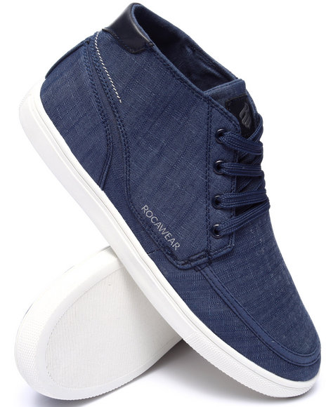 Rocawear - Men Blue Rocawear Hightop Chambray Sneaker