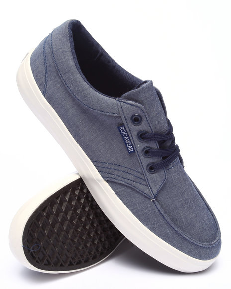 Rocawear - Men Blue Chambray Laced Sneaker