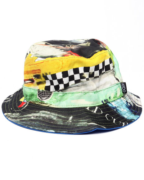 Ur-ID 218180 AKOO - Men Navy Venture Cup Reversible Bucket Hat