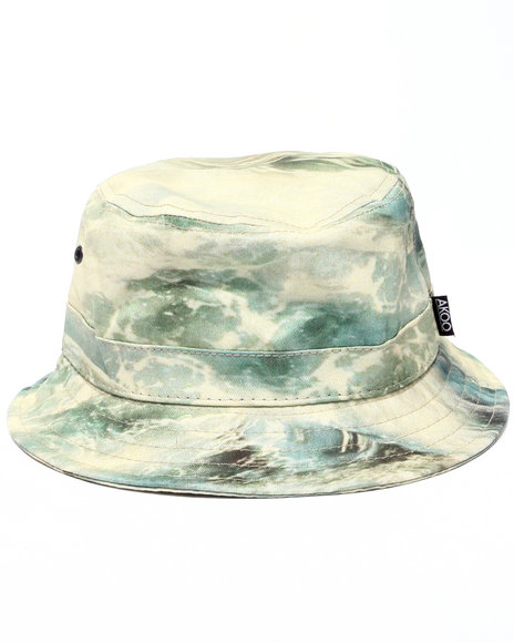 AKOO - Men White Wave Bucket Hat