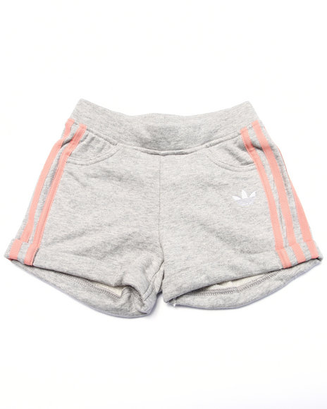 Adidas - Girls Grey Good Vibrations French Terry Shorts (4-16)