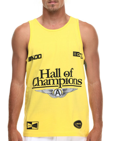 Akoo - Men Yellow Champions Tank