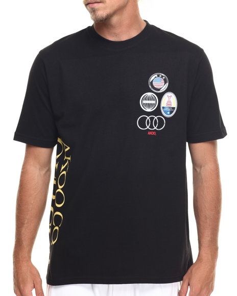 Akoo Men Split Tee Black Medium