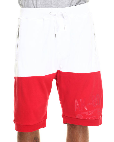 AKOO - Men Red Dual Knit Shorts