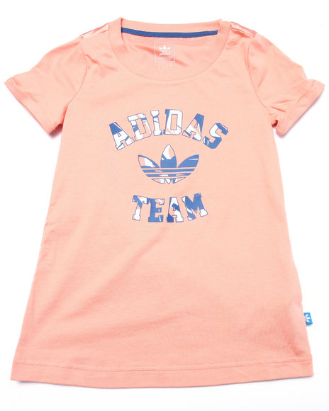 Adidas - Girls Pink Good Vibrations Team Tee (4-16) - $25.00