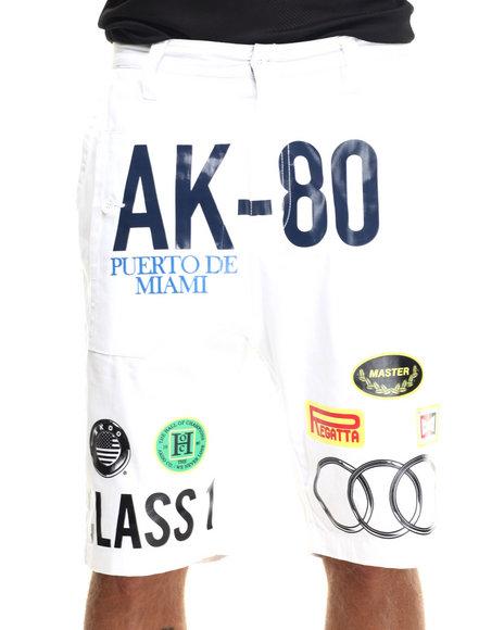 AKOO - Men White Akoo Reps Twill Shorts
