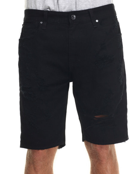 AKOO - Men Black Blackwater Denim Shorts