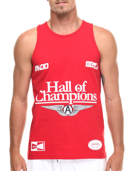 AKOO - Men Red Champions Tank