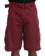 Buyers Picks - Belted Basic Double pocket cargo Shorts
