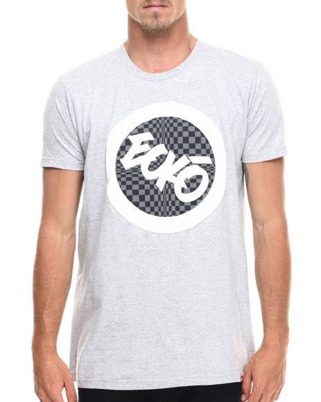 Ur-ID 218190 Ecko - Men Grey Check Foil Graphic T-Shirt