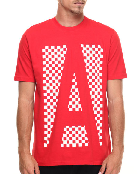 AKOO - Men Red Checker Tee