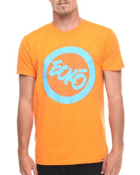 Ecko - Men Orange Check Foil Graphic T-Shirt