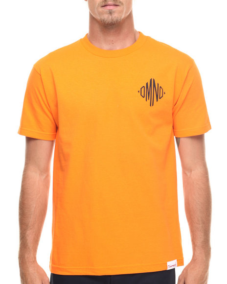 Ur-ID 218209 Diamond Supply Co - Men Orange Monogram Tee