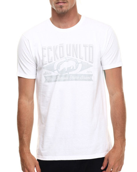 Ecko - Men White World Famous T-Shirt - $9.99