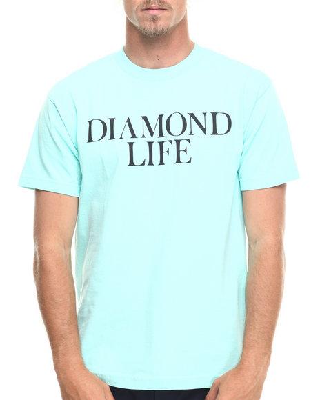Ur-ID 218233 Diamond Supply Co - Men Teal Diamond Life Tee