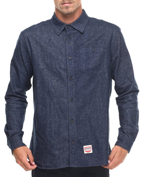 Diamond Supply Co - Men Blue Union L/S Button-Down