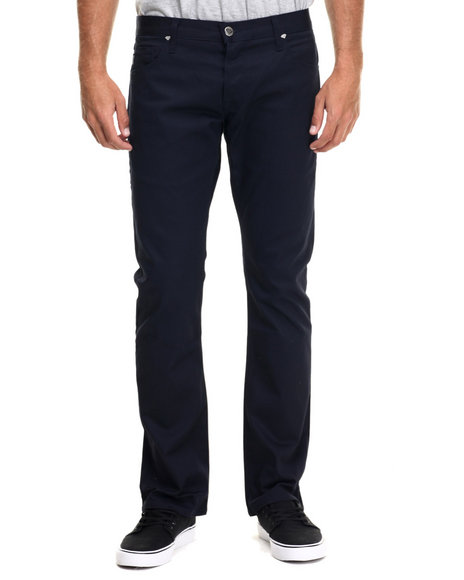 Ur-ID 218236 Diamond Supply Co - Men Indigo Skate Life Stretch Chino Pants