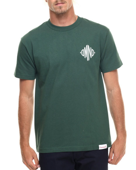 Diamond Supply Co - Men Green Monogram Tee
