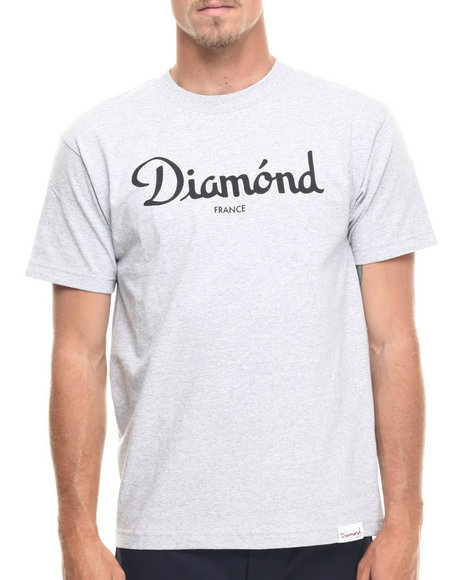 Diamond Supply Co - Men Grey Champagne Tee