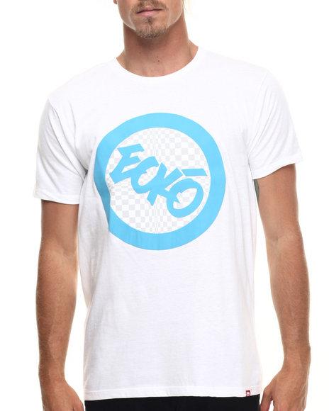 Ecko - Men White Check Foil Graphic T-Shirt - $10.99