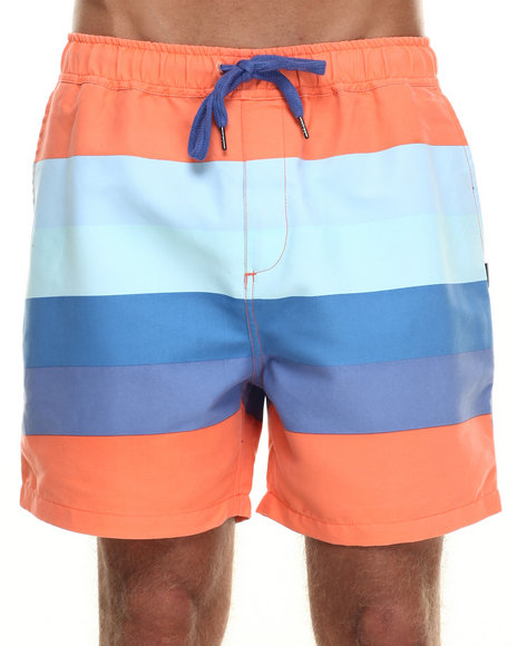 Insight - Men Blue Retro Beach Short