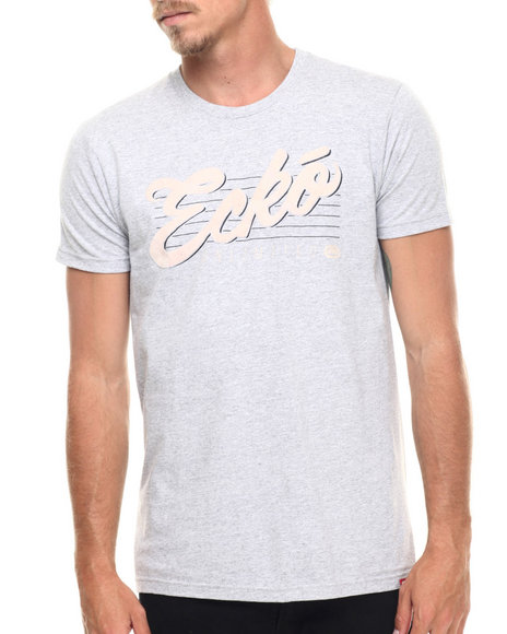 Ecko - Men Grey Unlimited Script Graphic T-Shirt - $7.99