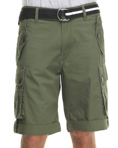 Ur-ID 218235 Rocawear - Men Olive Blueprint 2 Cargo Shorts