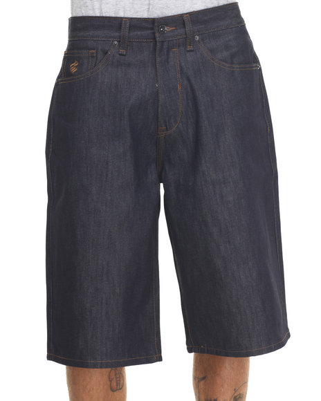 Rocawear - Men Raw Wash Bsr Core Denim Shorts
